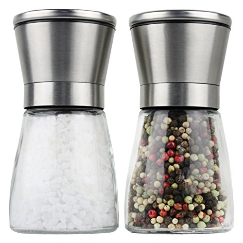 Moderne Salz und Pfeffermühle, 2- teiliges Salz und Pfeffermühlen Set