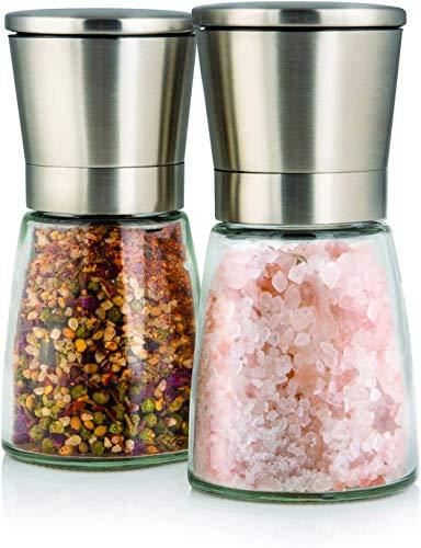 Elegante Salz und Pfeffermühle mit Ständer, 2- teiliges Salz und Pfeffermühlen Set