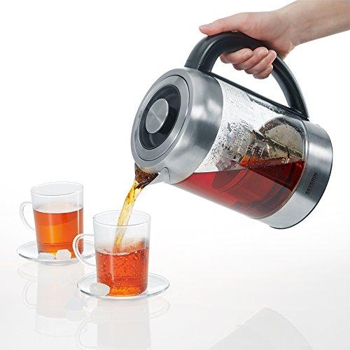 Severin WK 3471 Glas-Tee Wasserkocher, Glas edelstahl gebürstet - 8