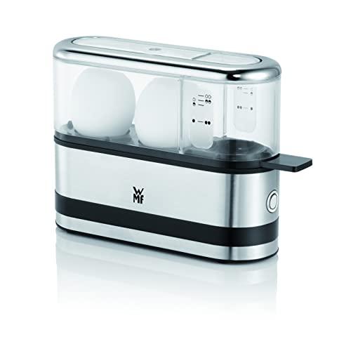 WMF KÜCHENminis 2-Eier-Kocher, für 1-2 Eier, mit Eipick, BPA-freies Tritan, 250 W, cromargan matt/silber