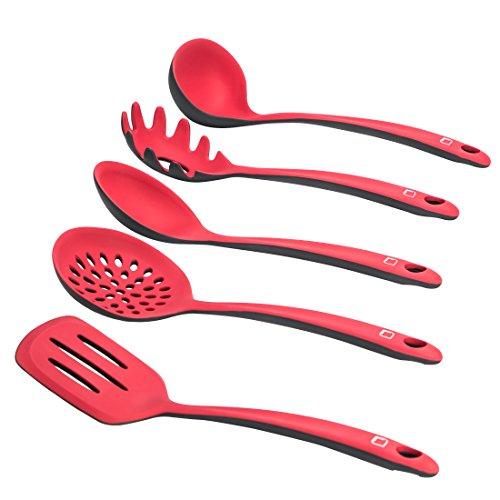 Levivo Silikon Küchenhelfer-Set 5-teiliges Küchenbesteck-Set