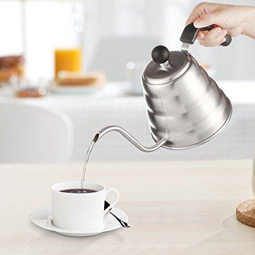 Decen Tee- Kaffee Kessel, Edelstahl Kaffeebereiter Kaffeekanne Teekanne