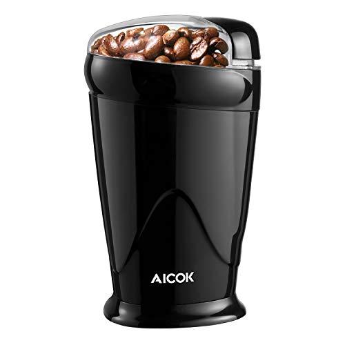 Aicok Elektrische Kaffeemühle, Kraftvolle 200 Watt Schlagmesser