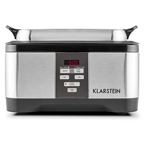 Klarstein Tastemaker • Sous-Vide Garer • Schongarer • Vakuumgarer • Niedrig-Temperatur-Garer • 6 Liter • 550 Watt • Temperaturbereich 40-90 °C • silber - 4